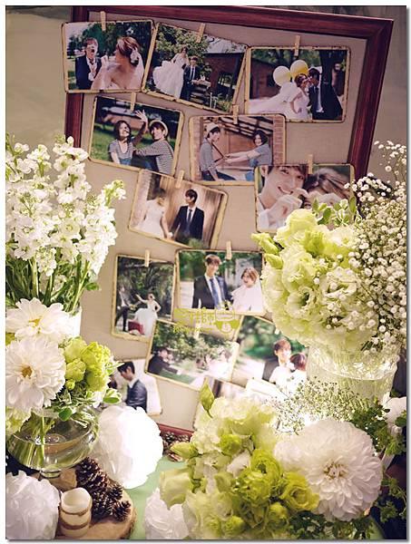 白綠色調X清新自然風婚禮 相簿桌08.jpg