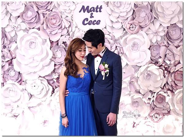 浪漫紫x純白色系紙花牆 Matt&Cece  01.jpg