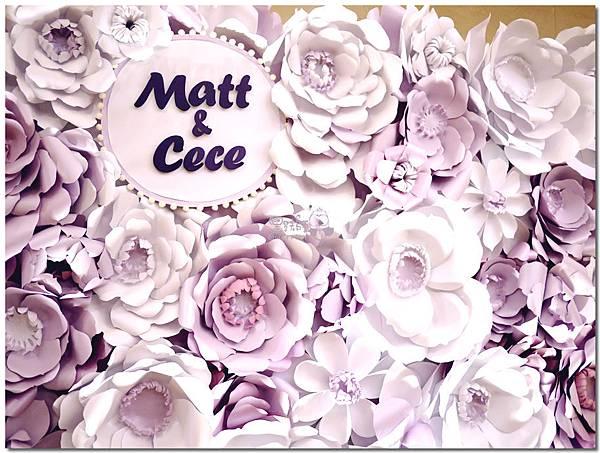 浪漫紫x純白色系紙花牆 Matt&Cece  07.jpg