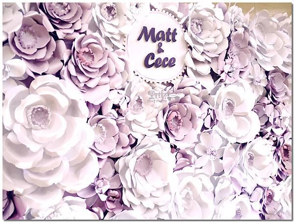 浪漫紫x純白色系紙花牆 Matt&Cece  09.jpg