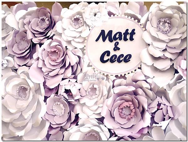 浪漫紫x純白色系紙花牆 Matt&Cece  08.jpg