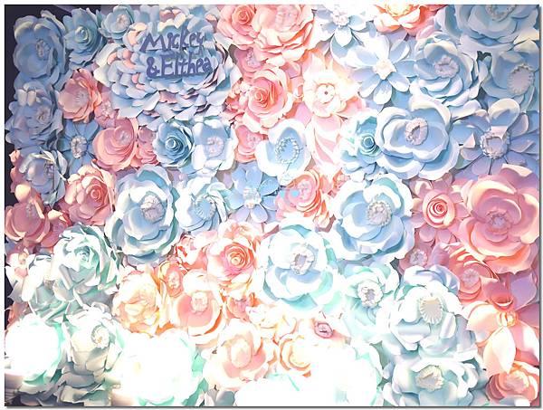 晴空藍X幸福粉 紙花佈置 Mickey%26;Elthea 05.jpg