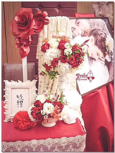 簡約時尚風X紙花婚佈 收禮桌  Albert&Albee 02.jpg