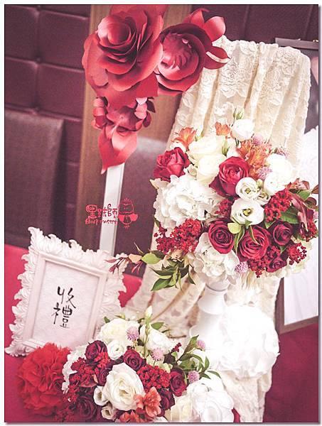簡約時尚風X紙花婚佈 收禮桌  Albert&Albee 01.jpg