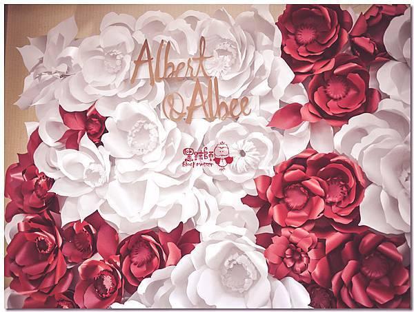 簡約時尚風X紙花婚佈 紙花牆  Albert&Albee 01.jpg