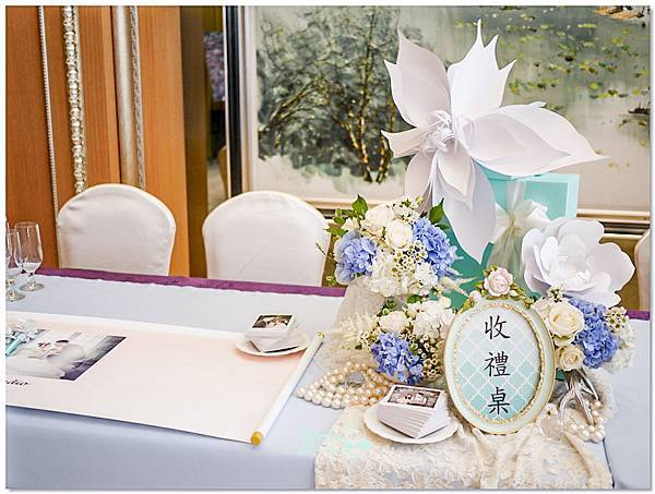 TiffanyX白 紙花婚佈 收禮桌 KaiYu&Dan 03.jpg
