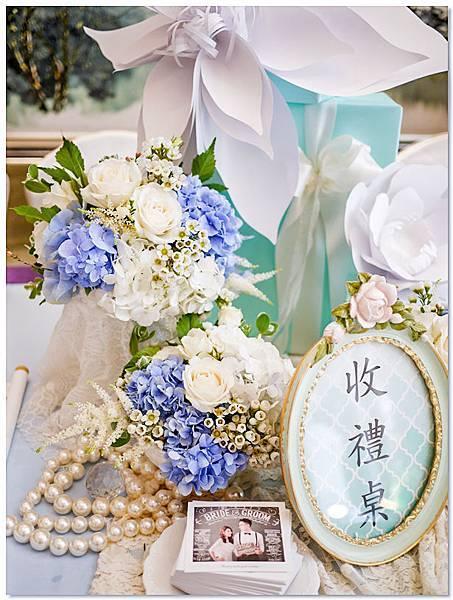TiffanyX白 紙花婚佈 收禮桌 KaiYu&Dan 02.jpg