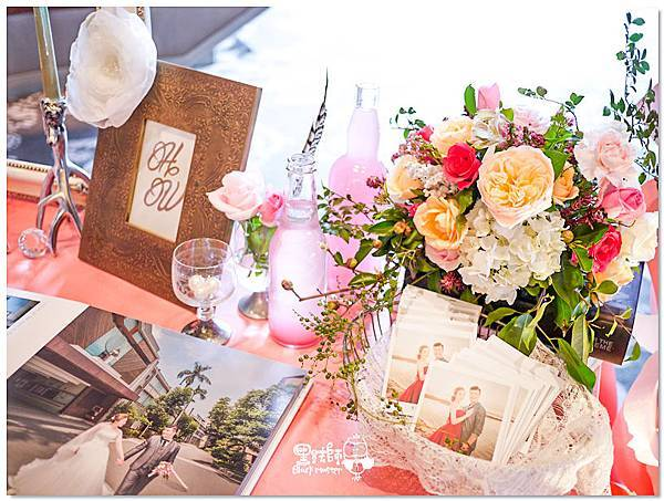 歐式典雅x紙花婚佈 相簿桌 H&W 01.jpg