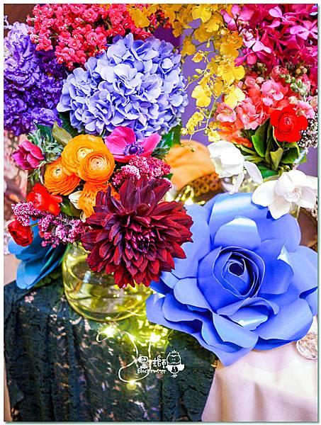 時尚又絢麗的紙花婚佈 收禮桌 Ning&Candy 01.jpg