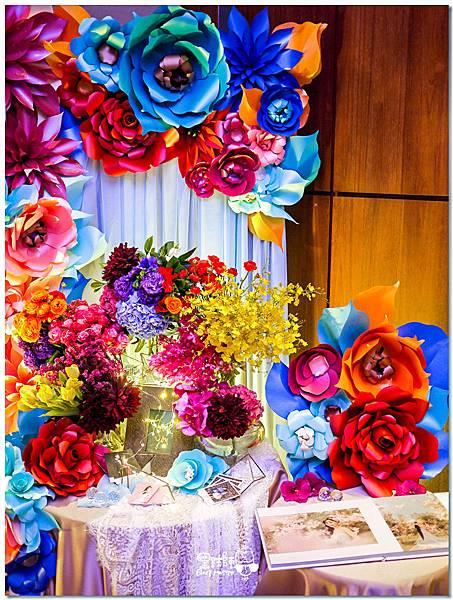時尚又絢麗的紙花婚佈 相簿桌 Ning%26;Candy 06.jpg