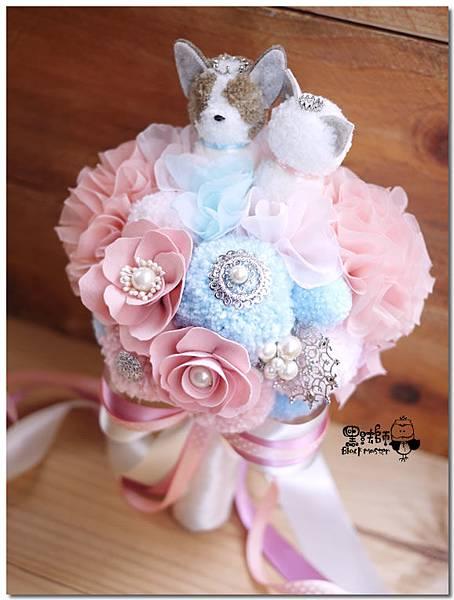 柯基與貓咪毛線捧花 Daisy 05.jpg