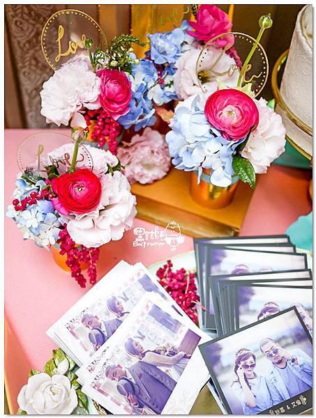 粉桃藍金色調的燦爛典雅紙花婚禮 相簿桌 耿嘉%26;艾倫 06.jpg