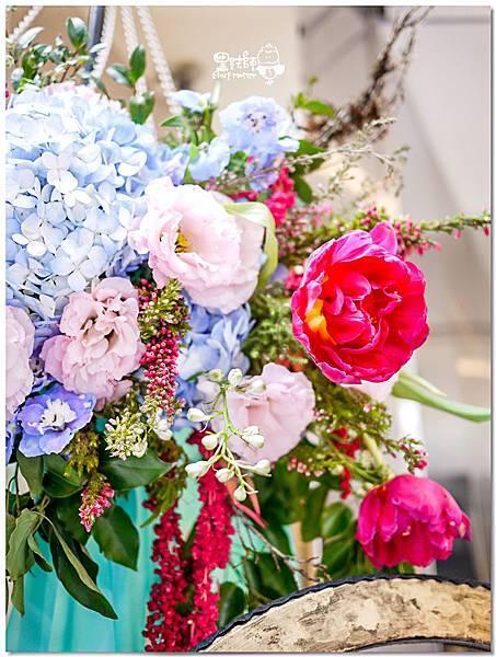 粉桃藍金色調的燦爛典雅紙花婚禮 相簿桌 耿嘉%26;艾倫 07.jpg
