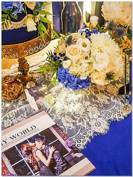 寶石藍X閃耀金 沉穩時尚華麗紙花婚禮 Jay%26;Marian 相簿桌05.jpg
