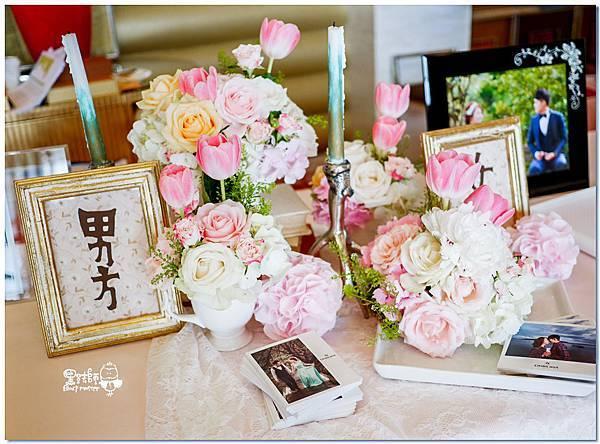 淡雅輕柔風格 純白蜜粉X紙花婚禮 收禮桌  Walter%26;Allie 05.jpg