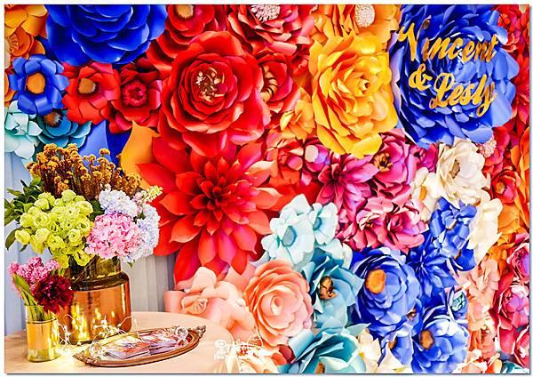 時尚又絢麗的紙花婚佈 相簿桌  Vincent%26;Lesly 05.jpg