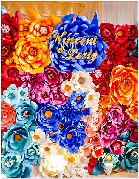 時尚又絢麗的紙花婚佈 紙花牆  Vincent&Lesly 01.jpg