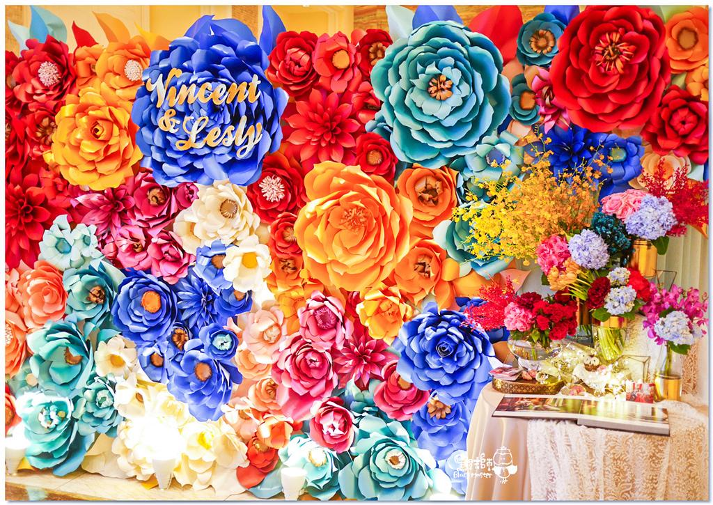 時尚又絢麗的紙花婚佈 紙花牆  Vincent%26;Lesly 02.jpg
