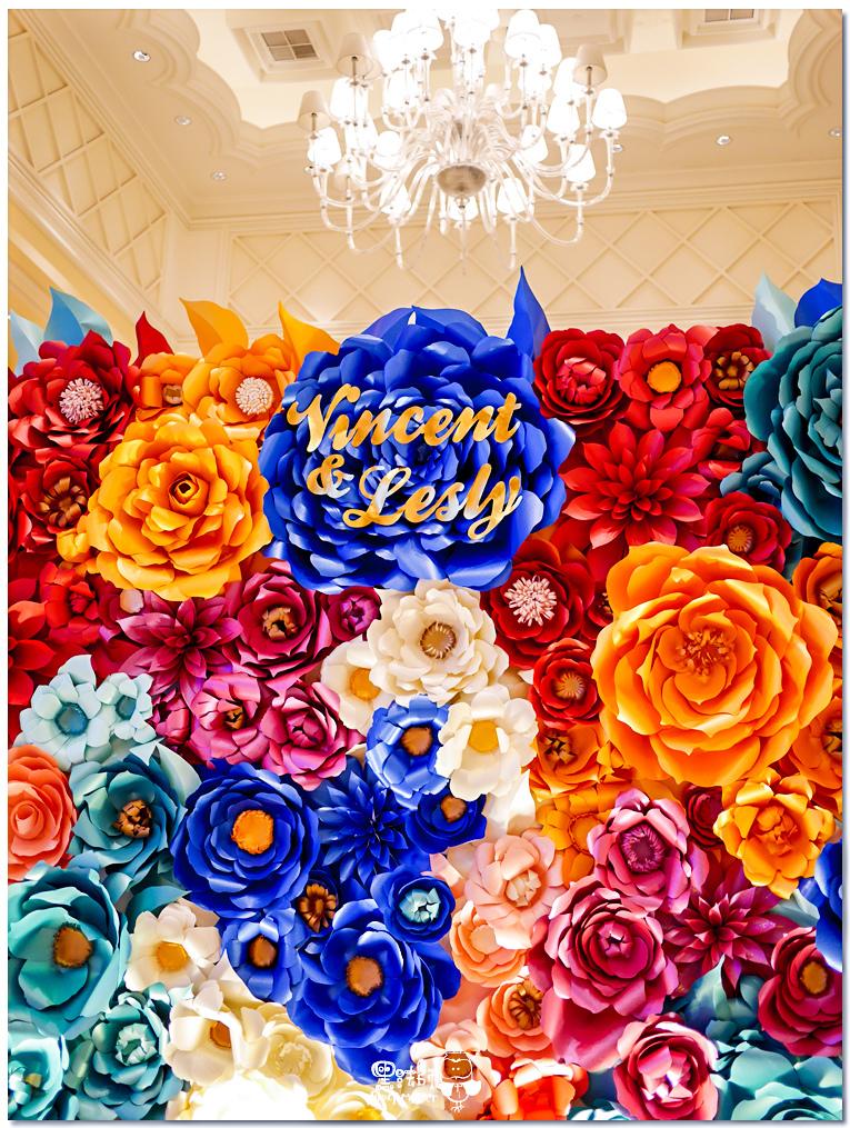 時尚又絢麗的紙花婚佈 紙花牆  Vincent%26;Lesly 03.jpg