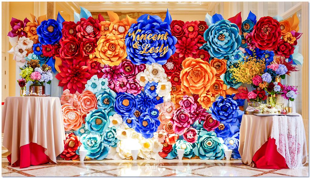 時尚又絢麗的紙花婚佈 紙花牆  Vincent%26;Lesly 05.jpg