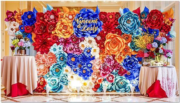 時尚又絢麗的紙花婚佈 紙花牆  Vincent&Lesly 05.jpg
