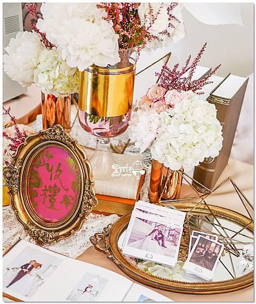 高貴典雅的紙花婚佈  Yu Chen%26;Tiffany 收禮桌05.jpg