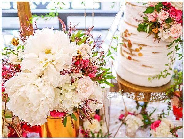 高貴典雅的紙花婚佈  Yu Chen%26;Tiffany 相簿桌01.jpg