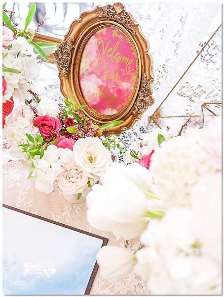 高貴典雅的紙花婚佈  Yu Chen%26;Tiffany 相簿桌03.jpg