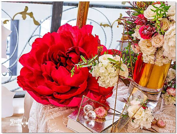 高貴典雅的紙花婚佈  Yu Chen%26;Tiffany 相簿桌05.jpg