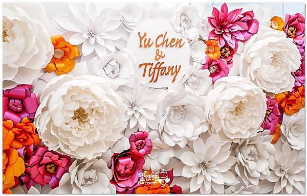 高貴典雅的紙花婚佈  Yu Chen&Tiffany 紙花牆01.jpg