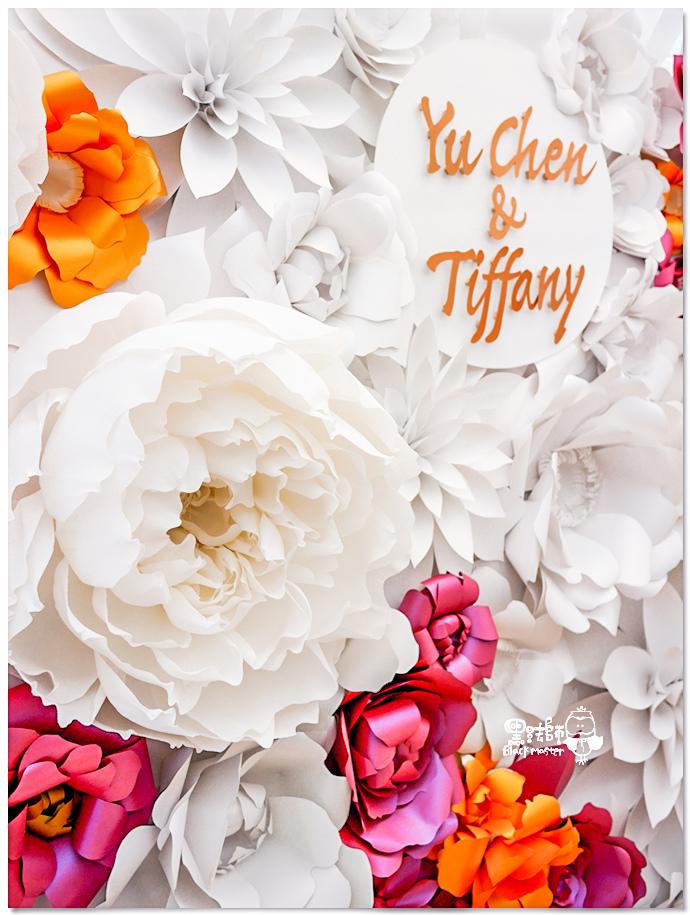 高貴典雅的紙花婚佈  Yu Chen%26;Tiffany 紙花牆02.jpg