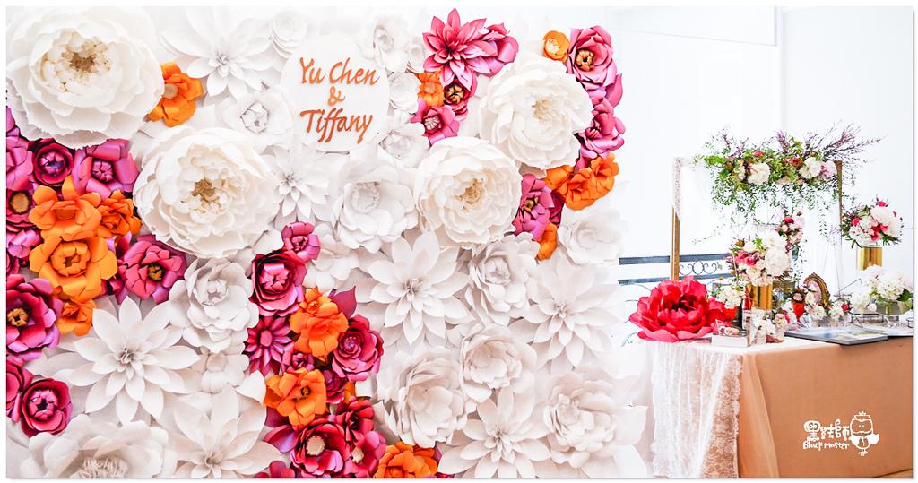 高貴典雅的紙花婚佈  Yu Chen%26;Tiffany 紙花牆05.jpg