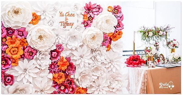 高貴典雅的紙花婚佈  Yu Chen&Tiffany 紙花牆05.jpg