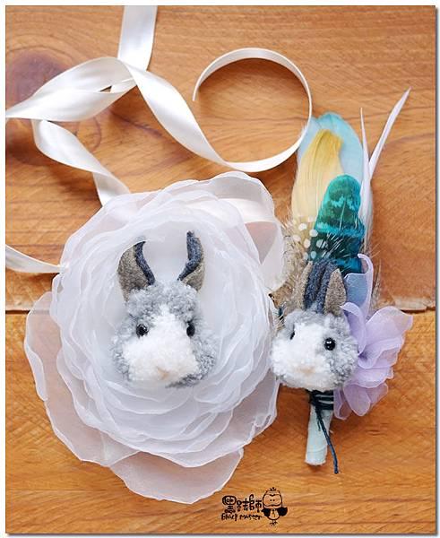 毛線兔子 新郎胸花與新娘手腕花 Wei.jpg