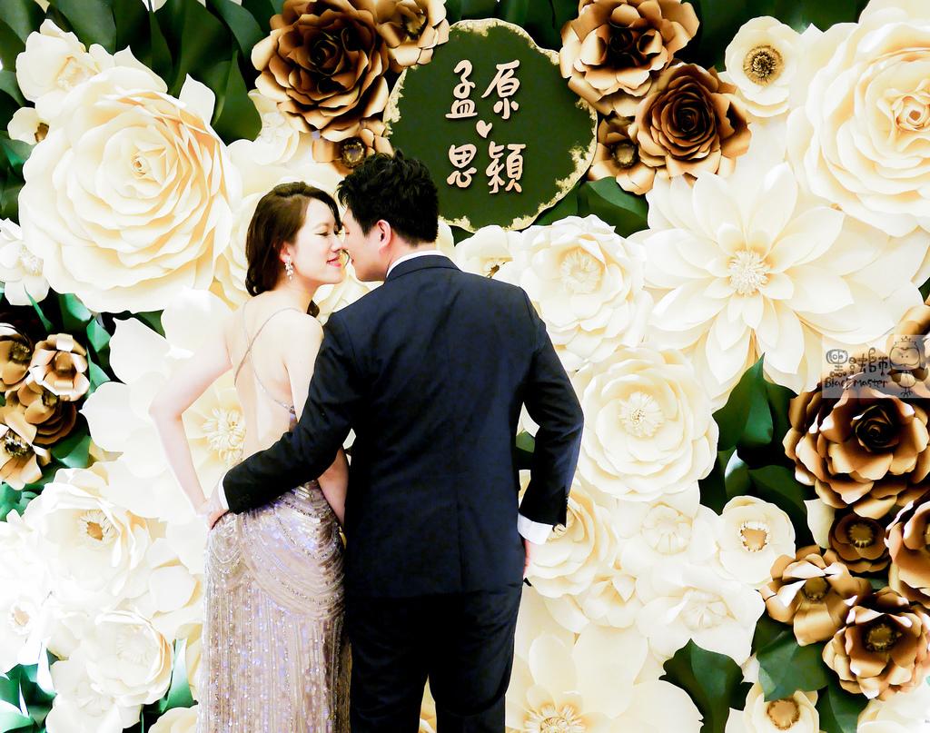 白綠金紙花x自然華麗風 婚禮佈置 孟原%26;思穎 02.jpg