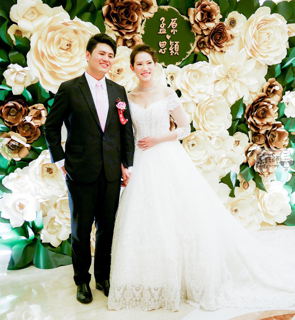 白綠金紙花x自然華麗風 婚禮佈置 孟原%26;思穎.jpg