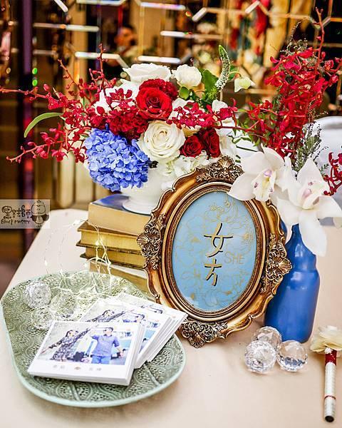 現代典雅風格x紙花婚佈 收禮桌 TING%26;HUA 02.jpg