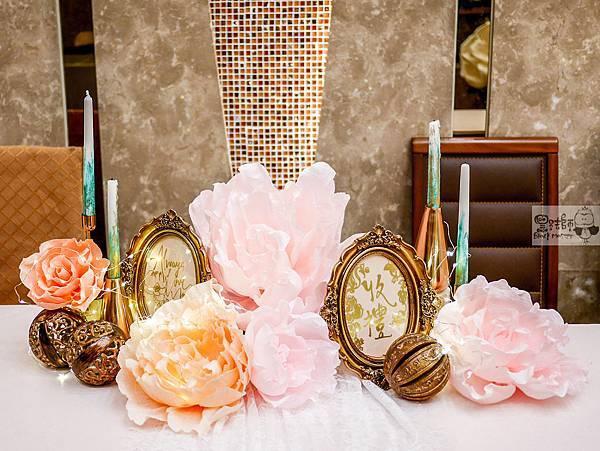 夏日甜點色調x紙花婚禮佈置 收禮桌 Gash%26;Peggy 01.jpg