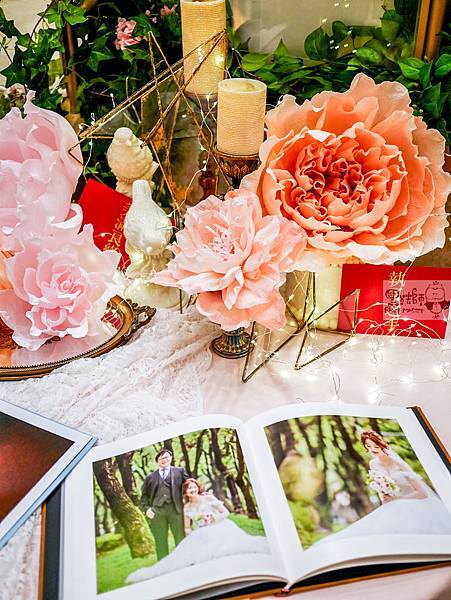 夏日甜點色調x紙花婚禮佈置 相簿桌 Gash%26;Peggy 01.jpg