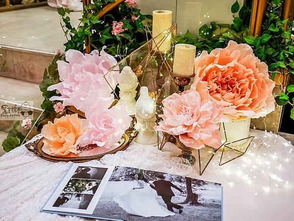 夏日甜點色調x紙花婚禮佈置 相簿桌 Gash%26;Peggy 02.jpg