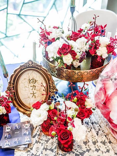 復古中國風x紙花婚禮佈置 收禮桌 Miloko 01.jpg