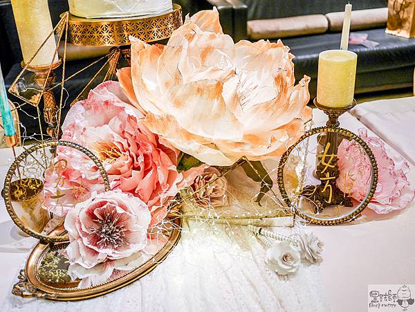 白粉色的優雅x紙花婚禮佈置 收禮桌 Kenny%26;Eliza 01.jpg