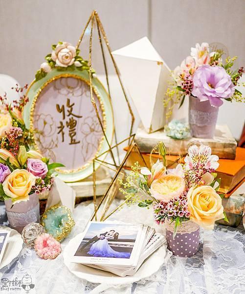 淺紫優雅浪漫氛圍x紙花婚佈 收禮桌 Johnny%26;Paulina 01.jpg