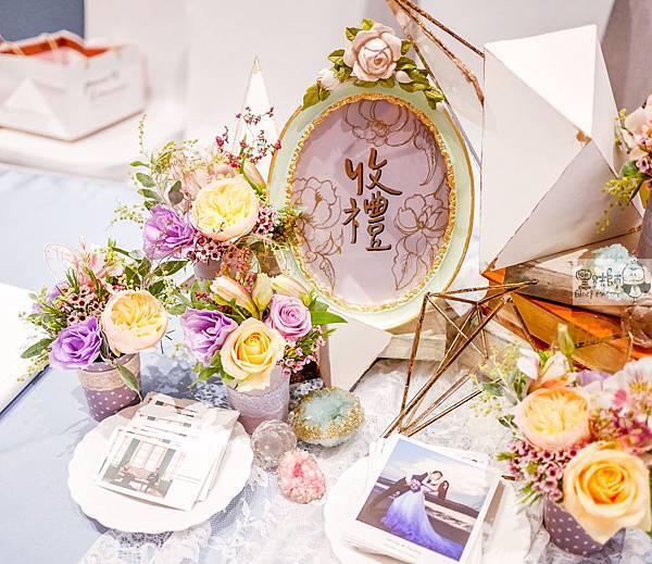淺紫優雅浪漫氛圍x紙花婚佈 收禮桌 Johnny%26;Paulina 02.jpg
