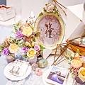 淺紫優雅浪漫氛圍x紙花婚佈 收禮桌 Johnny&Paulina 02.jpg