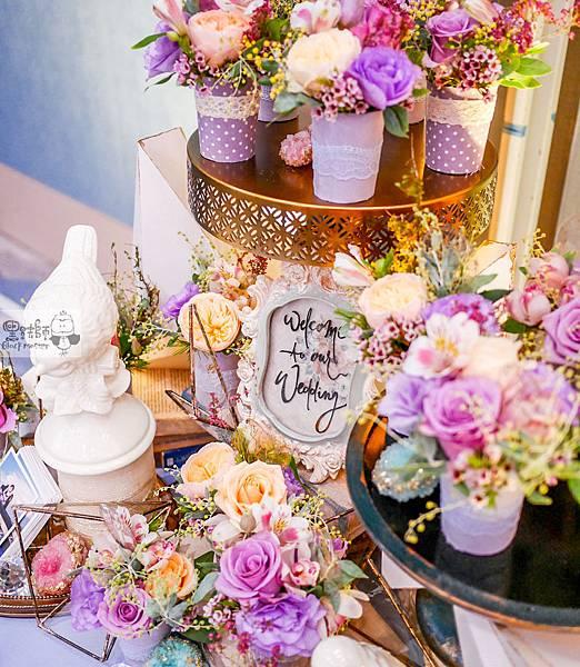 淺紫優雅浪漫氛圍x紙花婚佈 相簿桌 Johnny%26;Paulina 01.jpg