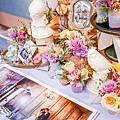 淺紫優雅浪漫氛圍x紙花婚佈 相簿桌 Johnny&Paulina 02.jpg