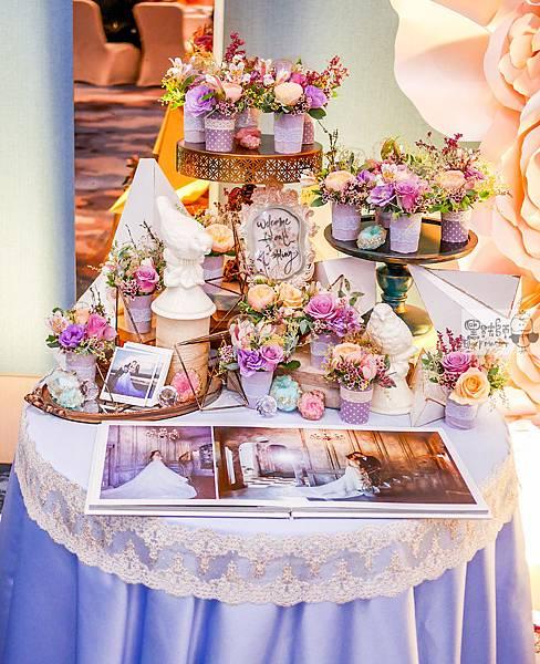 淺紫優雅浪漫氛圍x紙花婚佈 相簿桌 Johnny%26;Paulina 06.jpg