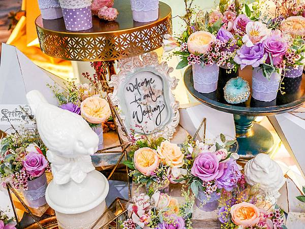 淺紫優雅浪漫氛圍x紙花婚佈 相簿桌 Johnny%26;Paulina 05.jpg