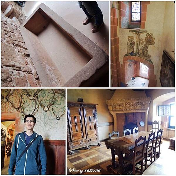 城堡內保留古老的裝潢